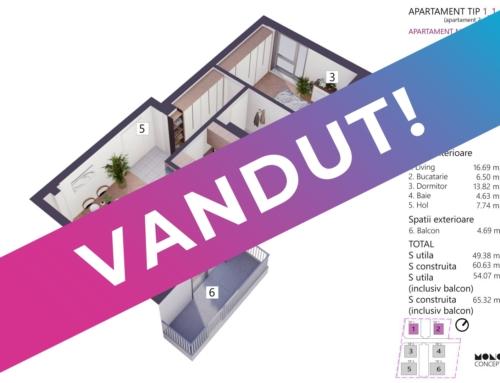 Apartament 2 Camere Tip A Etaj 1 Bloc 2