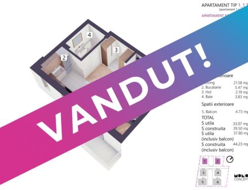 Apartament Studio Tip A Etaj 1 Bloc 2